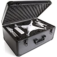 Ivation Extra-Light Custom Molded Hardshell Case for DJI Phantom 4, Phantom 4 Pro and Pro +. Quadcopter Drones and Accessories
