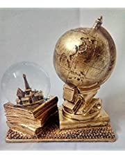 Globe Antiquity with Luminous Crystal Large - Gold