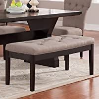 ACME Furniture 71541A Effie Bench, Light Brown Linen