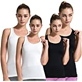 Semath Tank Top for Women, Running Workout Clothes Athletic Yoga Racerback 1-6 Pack