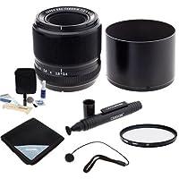 Fujifilm XF 60mm (90mm) F/2.4 Macro Lens - Bundle with 39mm UV Filter, Lens Wrap (15x15), Capleash II, LensPen Lens Cleaner, Cleaning Kit