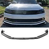 MotorFansClub 3pcs Front Bumper Lip for VW JETTA MK6.5 2015-2018 Splitter Trim Protection Spoiler, Black