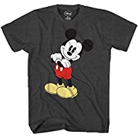 Mickey Mouse Cracked Graphic Tee Classic Vintage Disneyland World Mens Adult Graphic Tee T-shirt Apparel