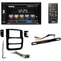 2002-05 Dodge Ram Double-Din, 6.2 Touch Screen Monitor, DASH KIT + WIRE HARNESS + RADIO ANTENNA ADAPTER + REAR VIEW CAM