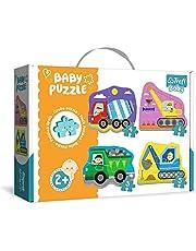 Trefl, Pussel, fordon på en byggarbetsplats, från 3 till 6 delar, 4 uppsättningar, Baby Classic, för barn från 2 år