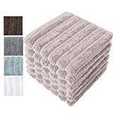 Classic Turkish Towels Luxury Bath Towel Set - Soft and Thick Oversized Ribbed Bathroom Towels Made with 100% Turkish Cotton