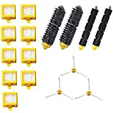 Amyehouse Replacement Parts Kit Includes Bristle Brush & Flexbile Beater & Side Brush & Hepa Filters for Irobot Roomba 700 Series 760 770 780 790 Vacuum Cleaner