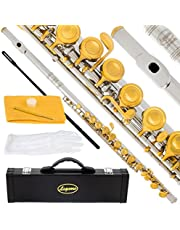 Lazarro Professional Closed Hole C Flute for Band, Orchestra, with Case, Care Kit, Gloves and Warranty
