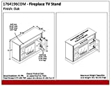 Ameriwood Home Chicago Fireplace TV Stand for TVs