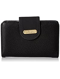 Buxton Touch of Suede Medium Tab Wallet, Black