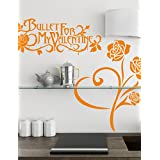 SK Wall stickers- Botanical Rose and Valentine Wall Stickers , purple