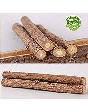 Makone 10 Bastoncini in Legno di Erba Gatta Matatabi Gatti In legno di Matatabi per la cura dentale aiutano giocando ad eliminare alitosi e tartaro Diametro 10-15mm