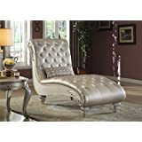 meridian furniture marquee pearl chaise lounge