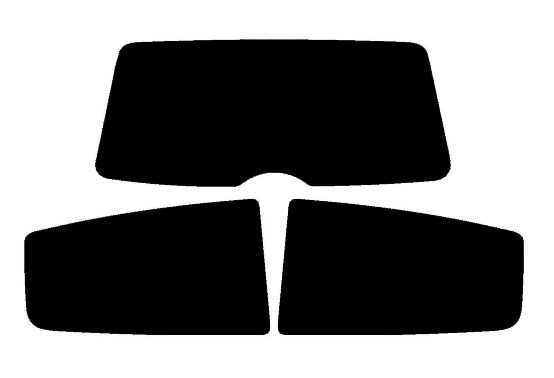 PSSC Pre Cut Sun Strip Car Window Films Fiat Grande Punto 3 Door 2005 to 2015 20/% Dark Tint