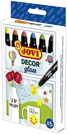 JOVI 10533 D/écor Craie /à La Cire Glass Multi-Superficies /Étui de 6 Couleurs Assorties