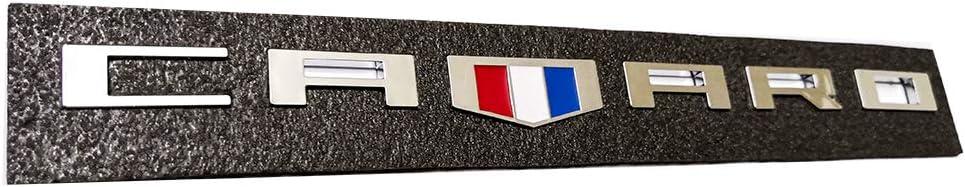 2pcs Camaro Emblems Badges 3D Letter Replacement for Camaro RS SS ZL1 Z28 Chevy Redline Style Emzscar Black