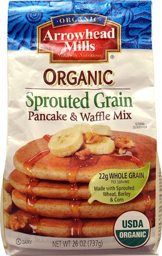 Arrowhead Mills Sprouted Pancake - Arrowhead Mills Organic Sprouted Pancake & Waffle Mix -- 26 oz - 2 pc