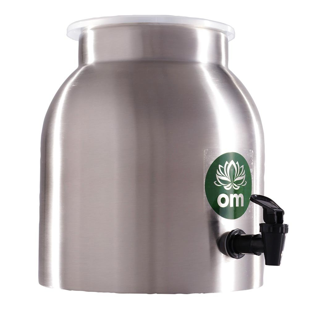 Everbru Kombucha Stainless Steel Carafe Continuous Brewing Kombucha Fermenter With Plastic Spigot For Fermentation Of Beer And Wine Making