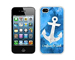 BINGO hot sale Art Anchor iPhone 4 4S Case White Cover