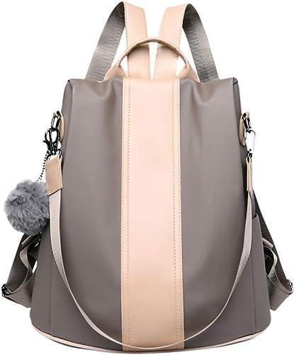 Genda 2Archer Fashion Waterproof Nylon Mini Backpack Anti-theft Rucksack Shoulder Bags Nylon-KhakiJC6002