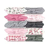 Hudson Baby Unisex Cotton and Synthetic Headbands, Gingham, 0-24 Months (Color: Gingham, Tamaño: 0-24 Months)