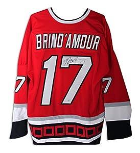 Rod Brind'Amour Carolina Hurricanes Autographed Red Jersey Autographed - Autographed NHL Jerseys