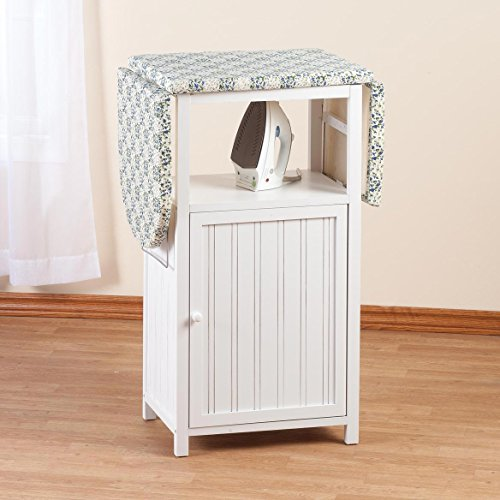 Miles Kimball Deluxe Ironing Board with Storage Cabinet by Oakridge, White by Miles Kimball (Image #1)