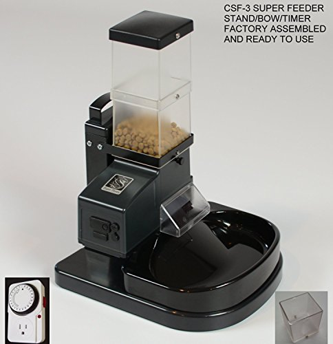 Automatic Cat Feeder Ready to use CSF-3 with Stand, Bowl by Super Feeder