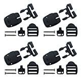 4 Set Spa Hot Tub Cover Broken Latch Repair Kit have Slot - Replace Latches Clip Lock with Keys and Hardwares