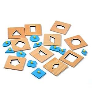 20pc Montessori Materials Insets Shapes - Preschool Development