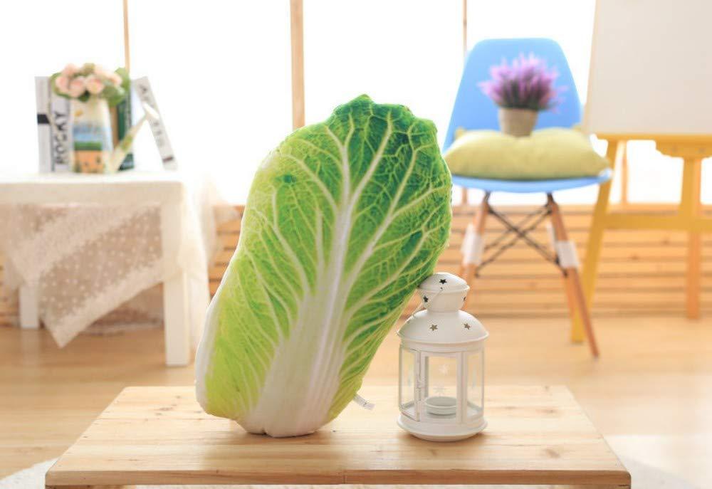 großes super weiches Stofftier Mjia Pillow Plüschkissen für Baby / Kleinkind / Kinder / Erwachsene Gemüsekissen 3D-Simulation Kinderkissen 50CM Kohl