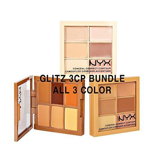 NYX 3cp ( Conceal,correct,contour ) ALL 3 Color MIX Bundle SET