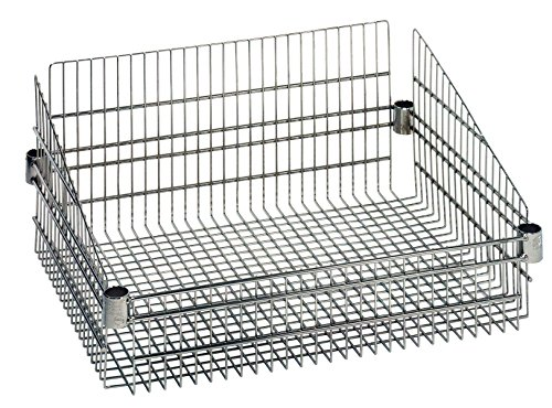 Quantum Storage Systems BSK1824C Wire Post Basket, Chrome Finish, 18