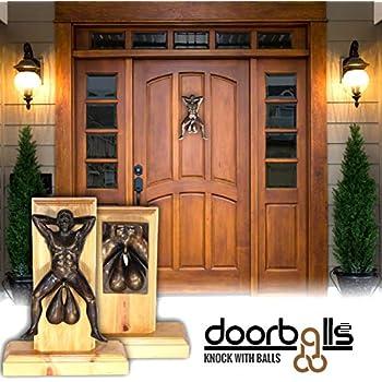 Bronzed Door Knocker With Balls By Doorballs Amazoncom