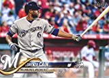 2018 Topps Series 2#421 Lorenzo Cain Milwaukee Brewers Baseball Card - GOTBASEBALLCARDS