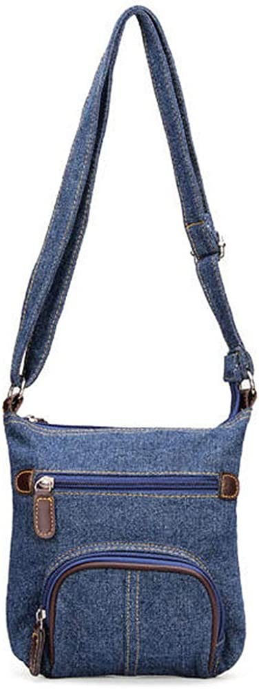 SEYMM Women Retro Small Blue Denim Satchels Shoulder Messenger Bags Crossbody Bag SEYMM