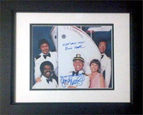 Gavin MacLeod Bernie Kopell autographed 8x10 photo (Love Boat Captain Merrill Stubing) #SC4 Matted -