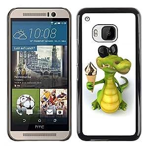 Be Good Phone Accessory Dura Cáscara cubierta Protectora Caso Carcasa Funda de Protección para HTC One M9//Friendly Crocodile Ice Cream