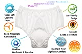 Women Reusable Cool Dry Incontinence Panty - Adult Diaper Alternative - Real Fit Underwear - Peace of Mind Protection You Can Depend On (3 Pack, 3X Large)