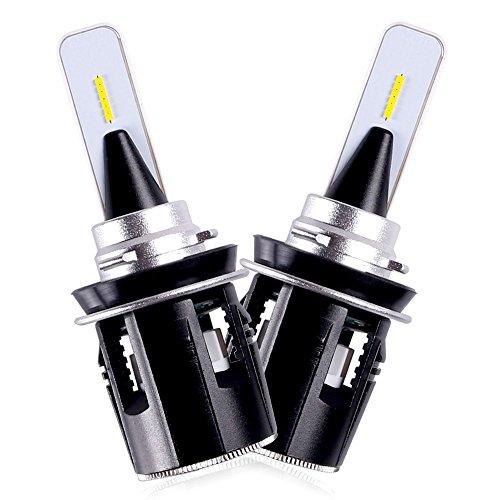 LED Headlight bulbs h11/h8/h9 Sanvi B6 LED Headlights Conversion Kit 6000k 24W 3600LM IP68 with Turbine Turbo Cooling Fan 3 Year Warranty LED Headlights Plug&Play (2pcs)