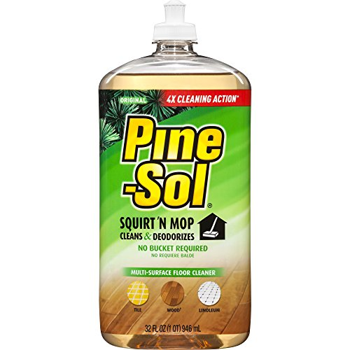 (Pine-Sol Squirt and Mop Floor Cleaner, Original, 32 Ounces, 6 Bottles/Case (97348))