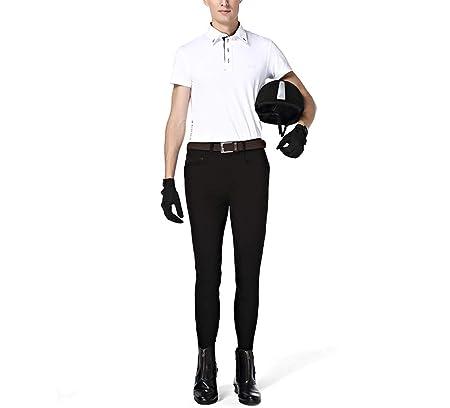 Zzzzy Pantalones de Montar a Caballo de los Hombres, con el Parche ...