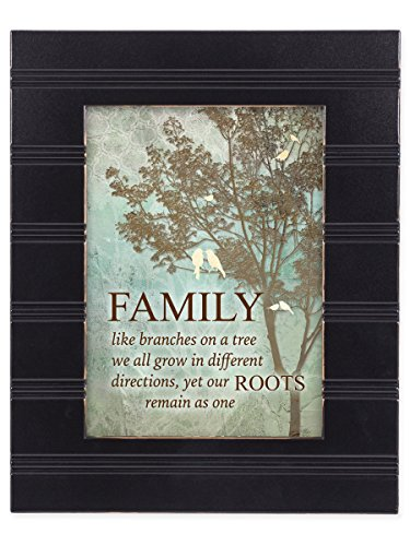 Our Family Tree Black with Gold Trim 8 x 10 Framed Wall Art Plaque