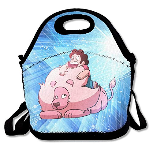 Steven Universe Lunch Bag Travel Zipper Organizer Bag, Waterproof Outdoor Travel Picnic Lunch Box Bag Tote With Zipper And Adjustable Crossbody Strap -
