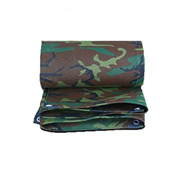 WCS Camuflaje Militar Dosel Impermeable Exterior Lienzo Grueso Coche Aislamiento Marino Impermeable Protector Solar Parabrisas Parabrisas Protector Solar ...