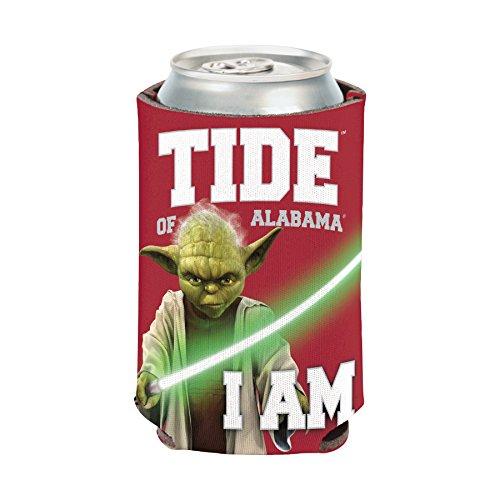 (NCAA Alabama Crimson Tide Star Wars Yoda Can Cooler)
