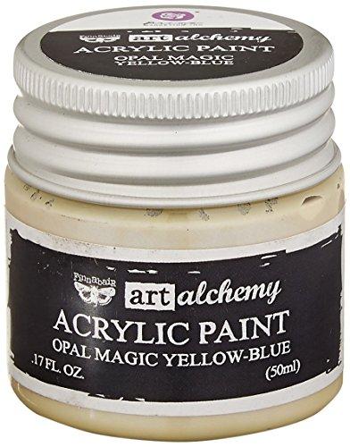 Prima Marketing 963606 Finnabair Art Alchemy Acrylic Paint, 1.7 fl. oz, Opal Magic Yellow/Blue