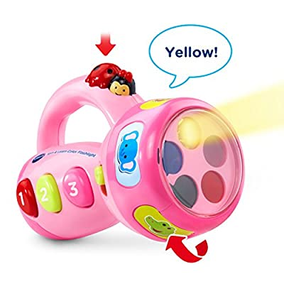 VTech Spin and Learn Color Flashlight - Pink - Online Exclusive