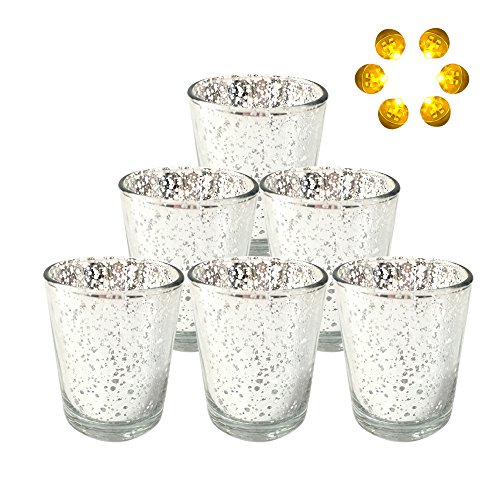 Neo LOONS Laser Cut Mercury Glass Votive Candle Holder Tealight Holder 2.70