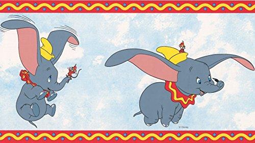 Magical Kingdom Grey Disney Dumbo Galerie Wallpaper Border DU3520-3